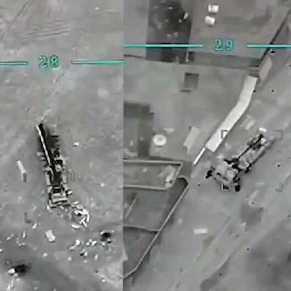 Rejime ait iki obüs SİHA ile havaya uçuruldu