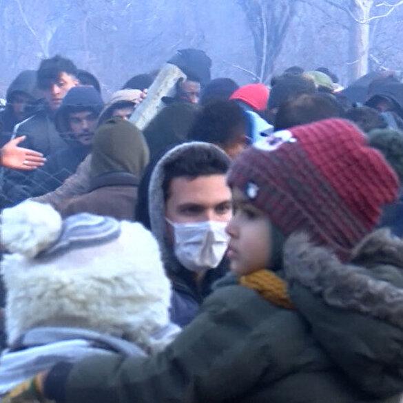 Tampon bölgedeki göçmenlere Yunan polisinden gaz bombalı müdahale