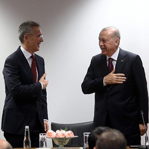 Cumhurbaşkanı Erdoğan koronavirüs nedeniyle Stoltenberg ile tokalaşmadı