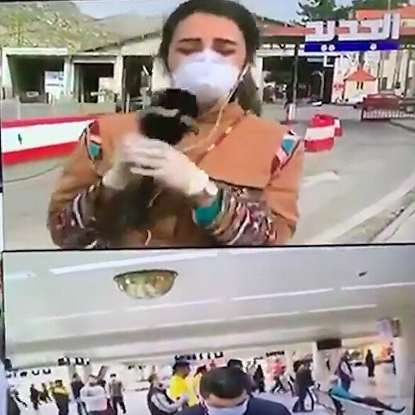 Lübnanlı muhabir sınırda koronavirüs önlemlerini anlatırken canlı yayında yere yığıldı