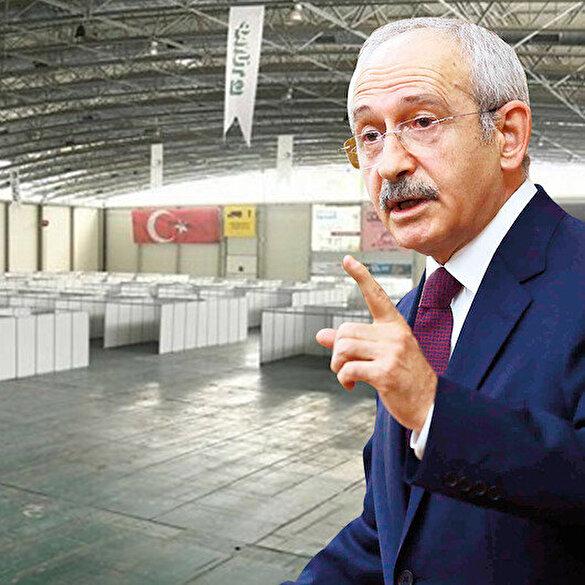 Kılıçdaroğlu'nun 'sahra hastanesi' dediği yer 'fuar alanı' çıktı