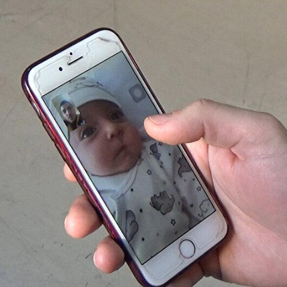 Sağlık personeli 45 günlük bebeğini kameradan ve kapıdan görebiliyor
