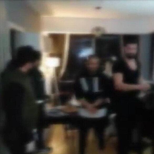 Ev partisine polis baskını kamerada