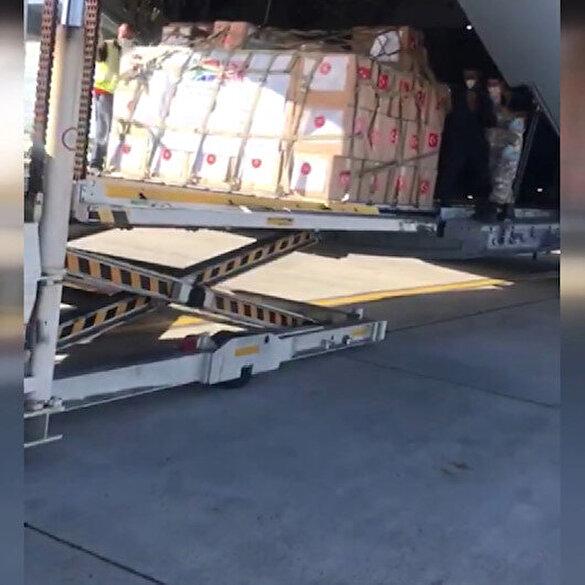 Türkiye'den Güney Afrika'ya tıbbi malzeme yardımı ulaştı