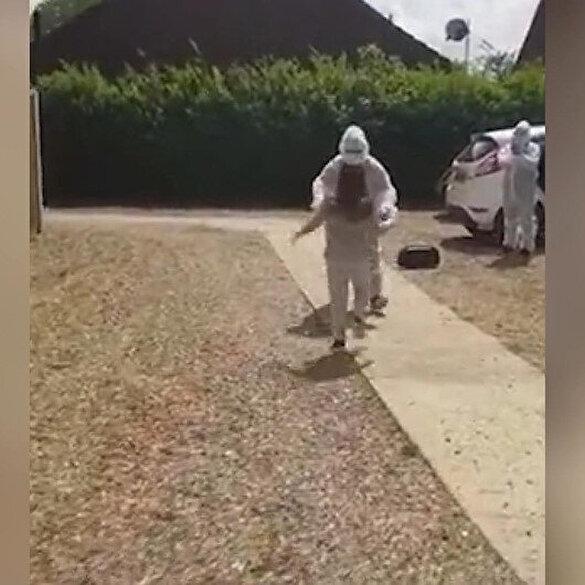 Sağlık çalışanının 50 gündür göremediği kızına kavuşma anı