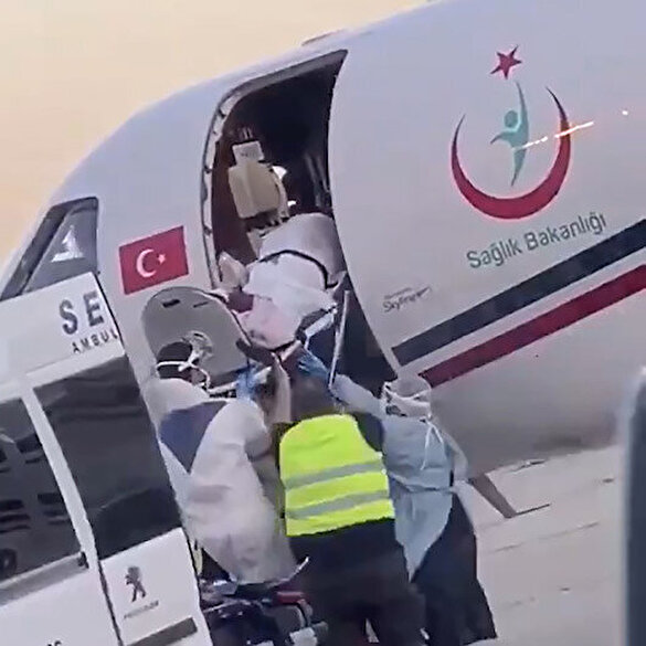 Fransa'nın ölüme terk ettiği Emine Eskil, ambulans uçakla Türkiye'ye getirildi