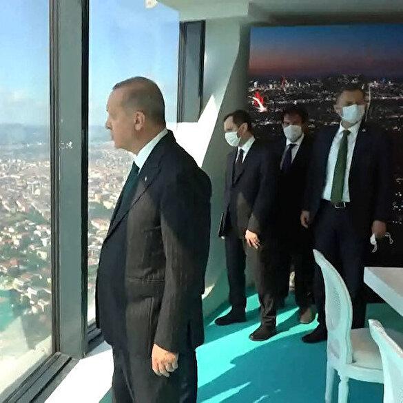 Cumhurbaşkanı Erdoğan Çamlıca Kulesi'nde incelemelerde bulundu