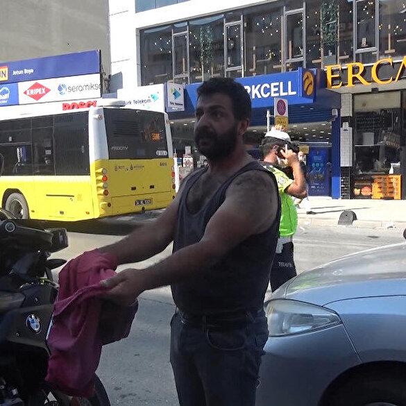 Arnavutköy'de maske cezasına kıyafetini çıkararak tepki gösterdi