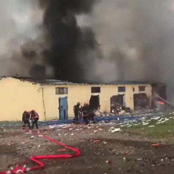 Hendek'te havai fişek fabrikasının yakınından kaydedilen görüntüler ortaya çıktı