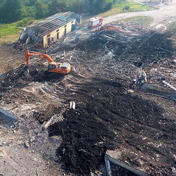 Hendek'teki patlamada facianın boyutu gün ağarınca ortaya çıktı