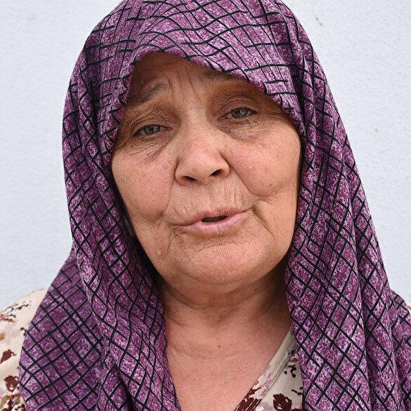 Gelibolu'da tarlaları yanan Fatma teyze gözyaşlarına hakim olamadı