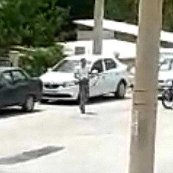 Kütahya'da Jandarma Karakoluna pompalı tüfekle saldırı anları kamerada