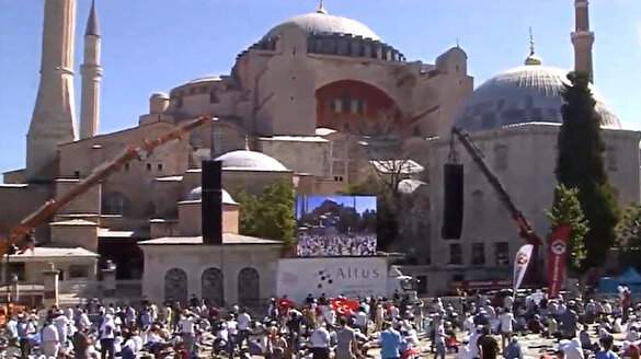 Ayasofya Camii'nde Kur'an-ı Kerim tilaveti başladı