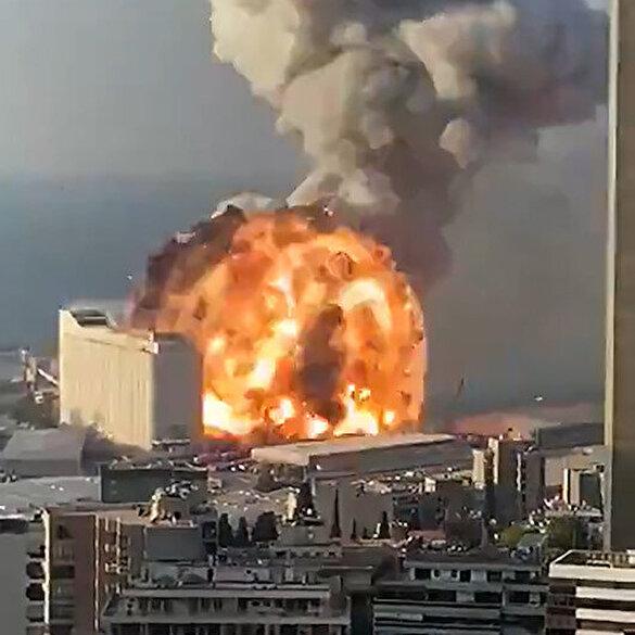 Beyrut'taki korkunç patlamaya ait yeni görüntüler
