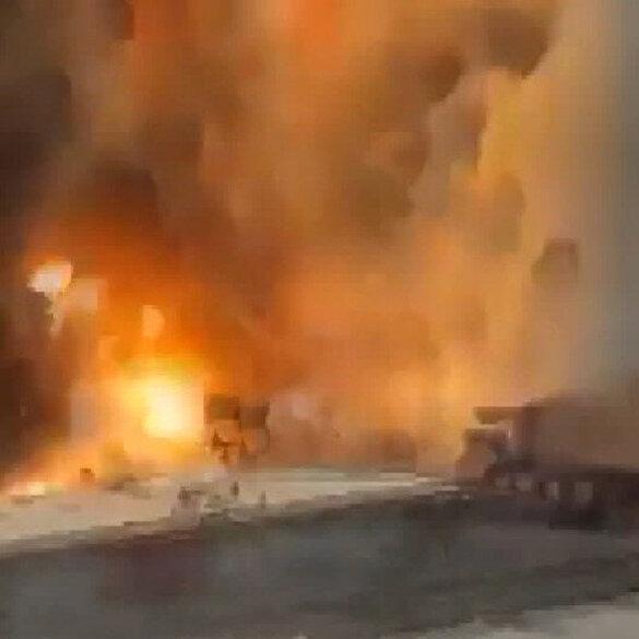 Beyrut'taki korkunç patlamanın en yakın görüntüsü ortaya çıktı