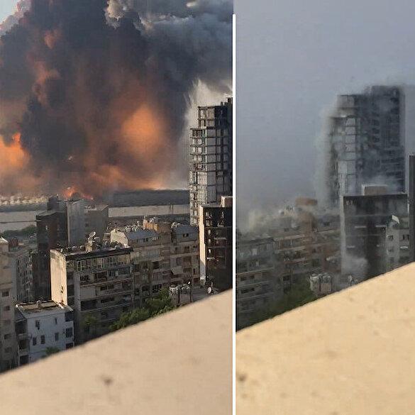 Beyrut'taki patlamanın en net görüntüleri ortaya çıktı