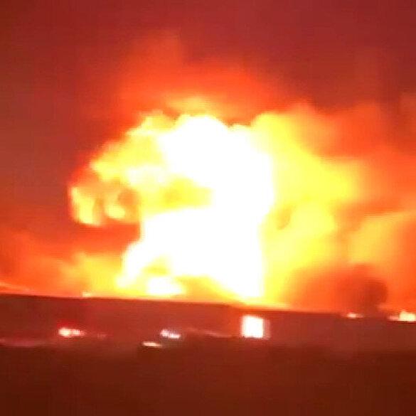 Cidde kentindeki tren istasyonunda korkutan yangın