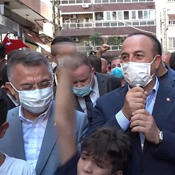 Beyrut'a giden bakanlar Lübnan halkı tarafından sevgi seli ve Erdoğan tezahüratlarıyla karşılandı