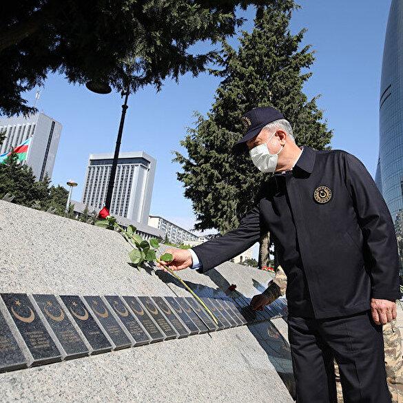 Milli Savunma Bakanı Hulusi Akar ve TSK komuta kademesi Bakü'de
