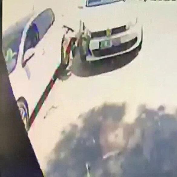 Bursa'da 'sollama' kazası araç içi kamerasında: 1'i bebek 6 kişi yaralı