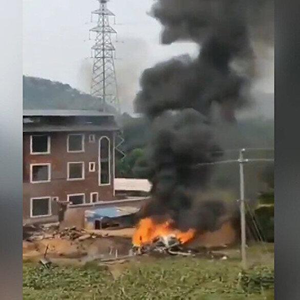 Tayvan ordusu Çin'e ait bir Su-35 savaş uçağını düşürdü