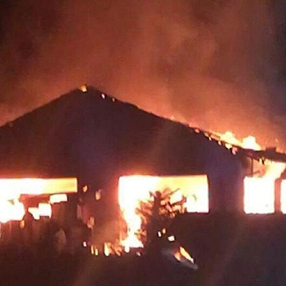 Almanya'da camide yangın çıktı