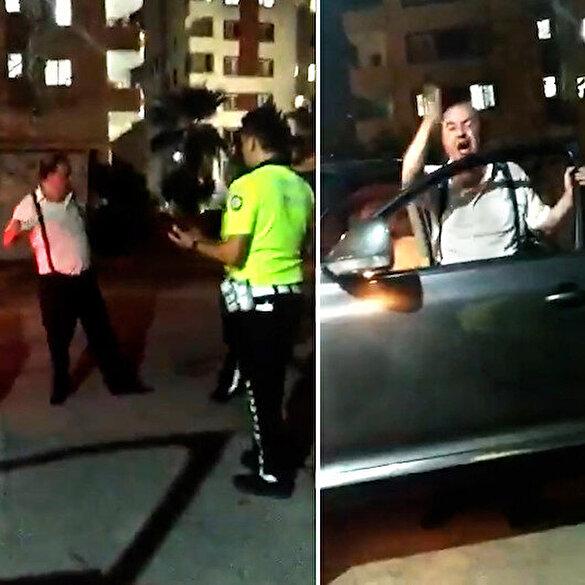 Adana'da alkollü hakim trafik polislerine zor anlar yaşattı