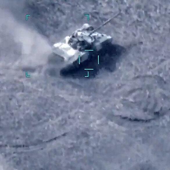 İşgalci Ermenistan tankları SİHA'larla böyle vuruldu