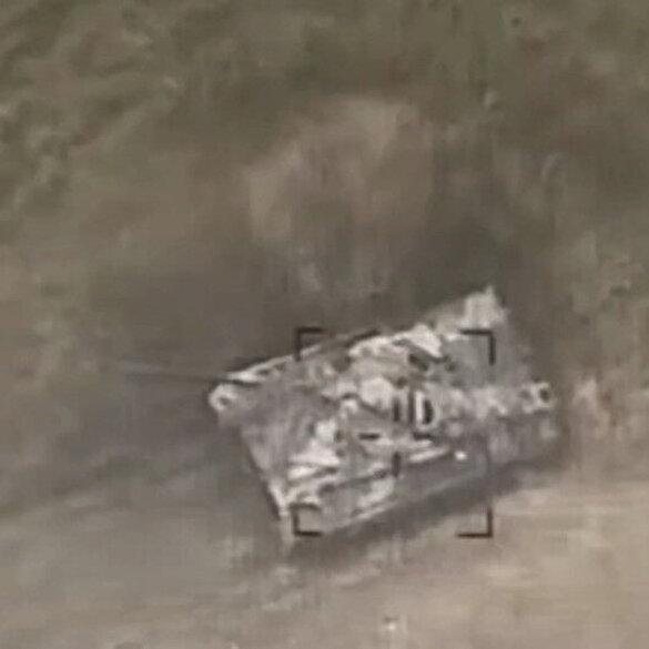 Cebrail bölgesindeki Ermeni tankları Azerbaycan ordusu tarafından yok edildi