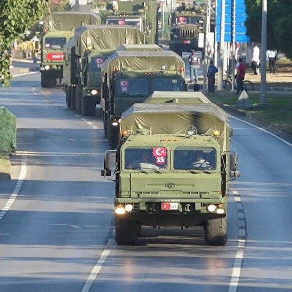 S-400'leri taşıyan ikinci konvoy Sinop'a sevk edilirken görüntülendi