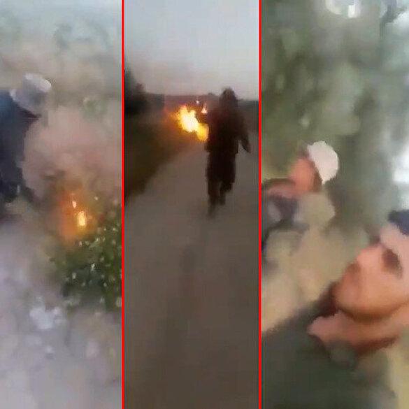 PKK'lı teröristlerin Hatay'daki ormanları ateşe verdikleri iddia edilen görüntüler