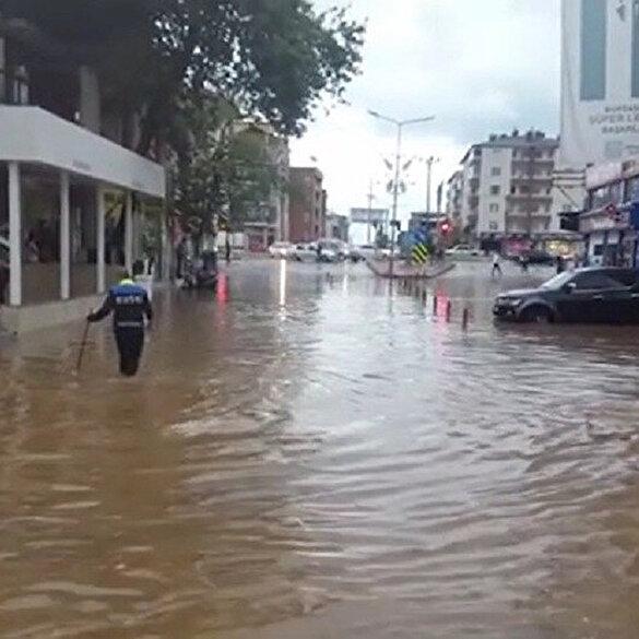 Bursa'da şiddetli dolu ve yağmur
