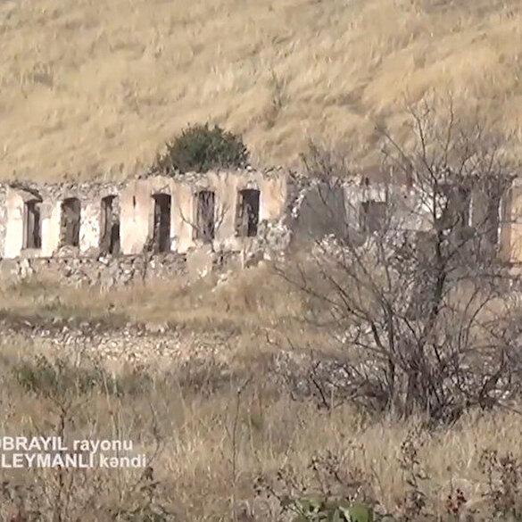 Ermenistan işgalinden kurtarılan Süleymanlı köyünden ilk görüntüler