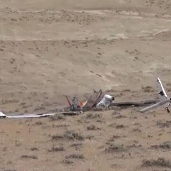 Azerbaycan Savunma Bakanlığı, Ermenistan'a ait üç İHA'nın düşürüldüğünü bildirerek görüntülerini yayınladı