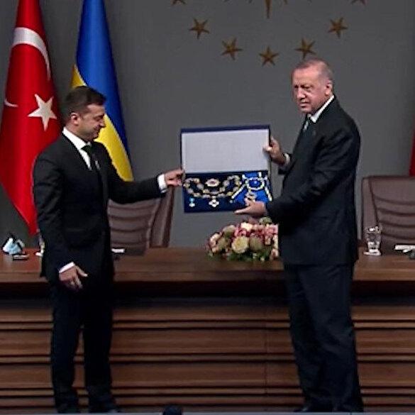 Cumhurbaşkanı Erdoğan'a, Ukrayna'dan 'Bilge Prens Nişanı'