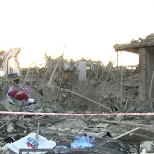 Ermenistan'ın saldırısına uğrayan Gence'deki hasar gün doğarken ortaya çıktı