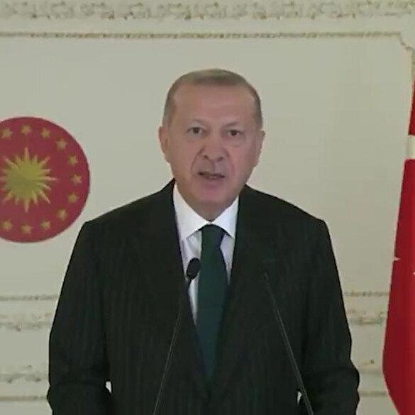 Cumhurbaşkanı Erdoğan'dan Müslümanları hedef alan Macron'a yanıt: Asıl gayesi İslam'la ve Müslümanlarla hesaplaşmaktır