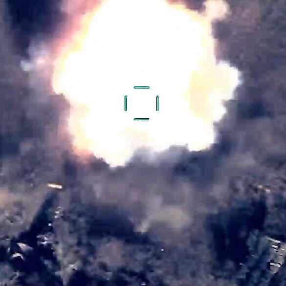 Azerbaycan ordusu Ermenistan hedeflerini böyle imha etti