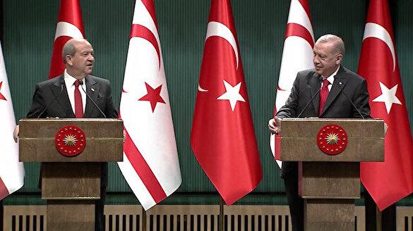 Cumhurbaşkanı Erdoğan'dan Ersin Tatar'a: Kapalı Maraş'ta piknik yapalım
