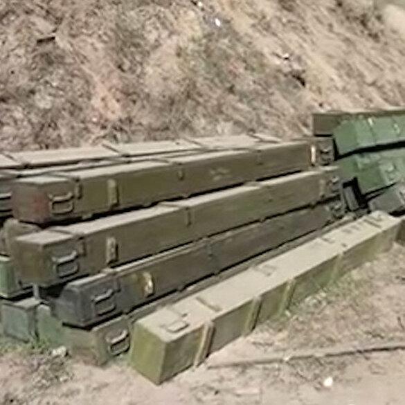 İşgalden kurtarılan Kubadlı'da Ermenistan'a ait silah ve mühimmat ele geçirildi