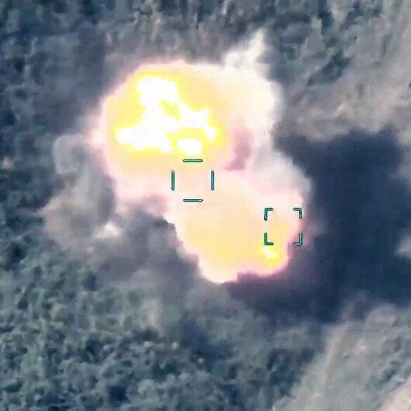 Azerbaycan ordusu, sivilleri hedef alan işgalci Ermenistan güçlerini SİHA'larla vurmaya devam ediyor