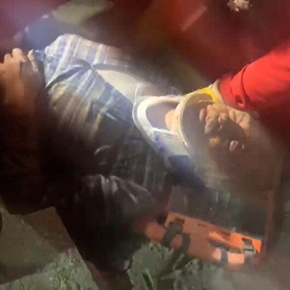 Mucizenin görüntüleri: Rıza Bey Apartmanı'nda 33 saatlik yaşam mücadelesinin ardından kurtarıldı