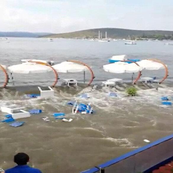 Depremde oluşan tsunaminin yeni görüntüleri ortaya çıktı