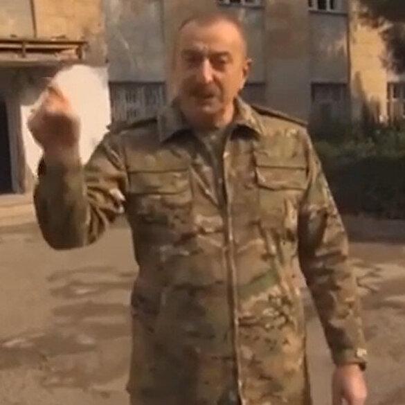 Aliyev: Rezil Paşinyan, Ermenistan utançla yaşayacak biz ise gururla yaşayacağız