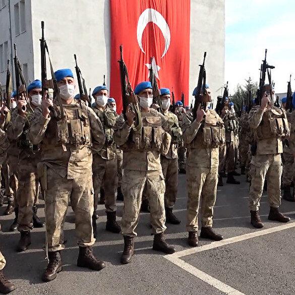Kahraman Türk komandoları barış için Suriye'ye uğurlandı: Kurbanlar kesilip sirenler çalındı