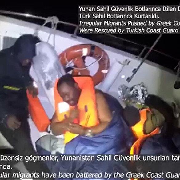 Vicdansız Yunanlar mültecileri darp edip Türk karasularında ölüme terk etti: Bakan Soylu kurtarıldıklarını açıkladı
