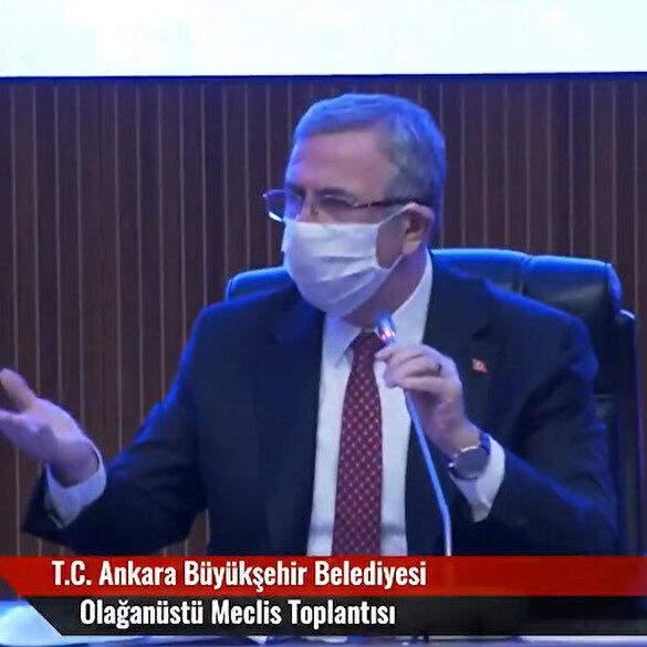 Mansur Yavaş Ankara Meclisini böyle yönetiyor: Fazla konuşuyorsun, zabıtaya attırırım, alın elinden mikrofonu