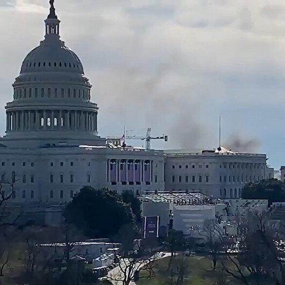 ABD yeniden alarma geçti: Kongre binası yakınlarında dumanlar yükseldi