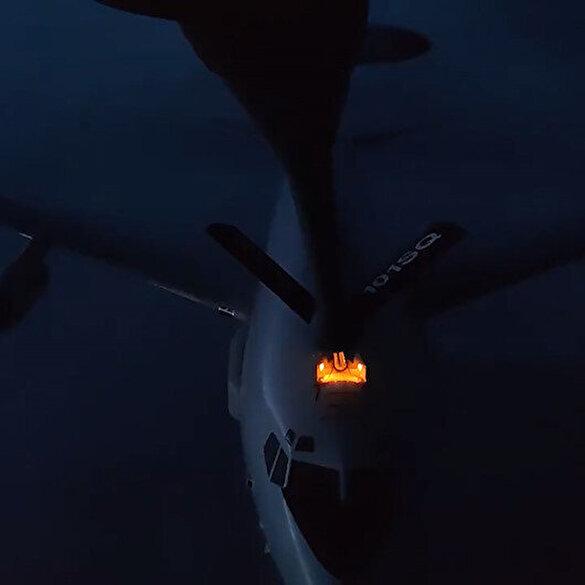TSK gururla sunar: NATO uçağına ilk kez gece görevi esnasında havadan yakıt ikmali