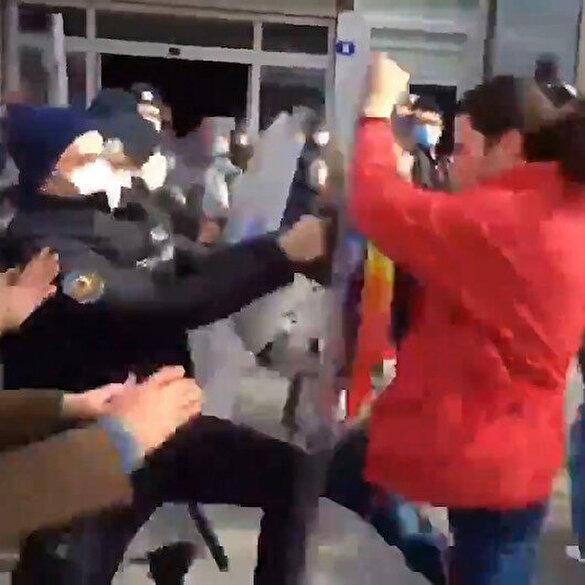 Kızılay'da polise saldırı anları kamerada
